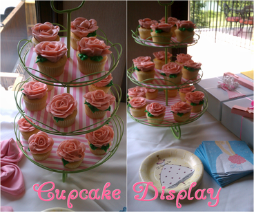 create your own cupcake display using scrapbook paper and a cupcake stand #PreppyPlanner
