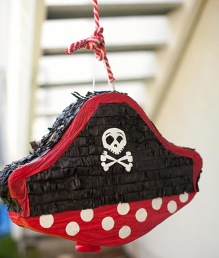 no pirate party is complete without a pirate hat pinata #PreppyPlanner