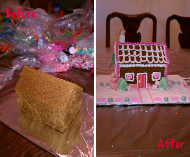 2012 Christmas Recap: Before and After of my 2012 gingerbread house #PreppyPlanner