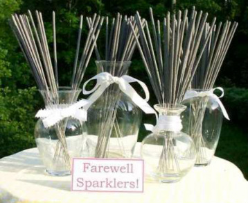 Farewell Sparkler Display