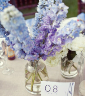light blue flower arrangement