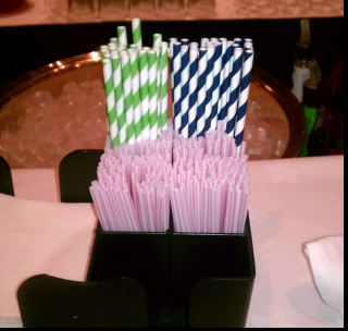 stripped straws