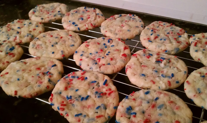 Firework Cookies: Delicious cake-like cookies perfect for Memorial Day Weekend #PreppyPlanner