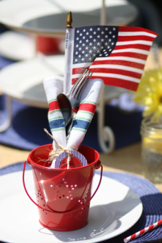 Red, White and Blue Silverware