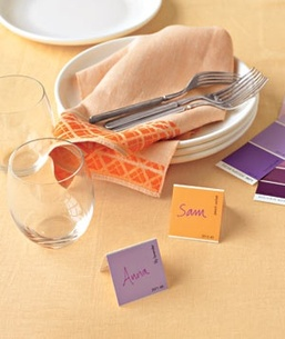 paint chip place cards #PreppyPlanner