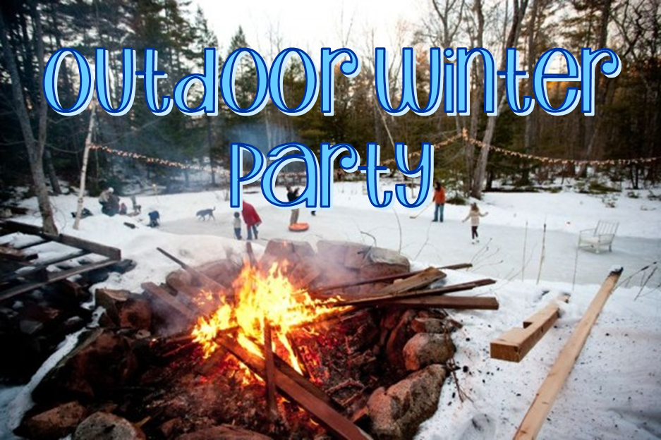 Outdoor Winter Party #PreppyPlanner