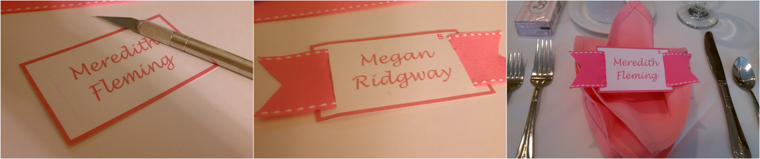 step-by-step tutorial on how to make these ribbon place cards #PreppyPlanner