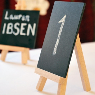 chalkboard table numbers for the teacher bride or groom #PreppyPlanner
