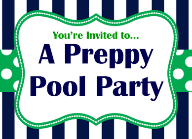 plan a preppy pool party for your next birthday or summer get together #PreppyPlanner