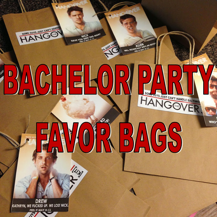 Wedding Wednesday: Bachelor Party Favor Bags #PreppyPlanner
