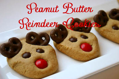 The perfect cookie to make during the holidays: Peanut Butter Reindeer Cookies #PreppyPlanner