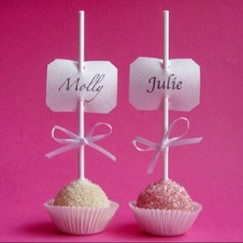cake pop place cards #PreppyPlanner