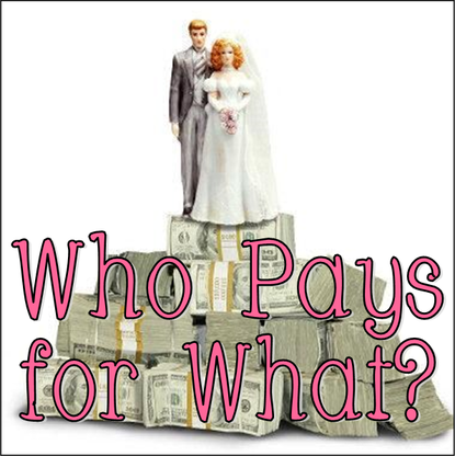 Wedding Wednesday: Who Pays for What? #PreppyPlanner