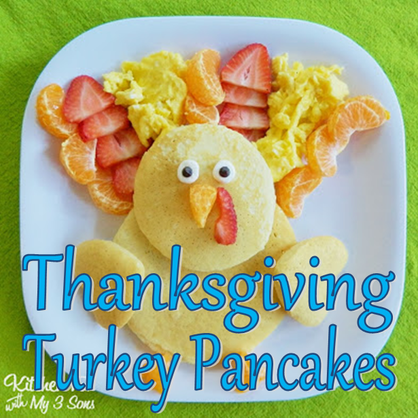 Thanksgiving Turkey Pancakes #PreppyPlanner