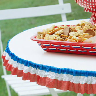 Table Edging for Memorial Day