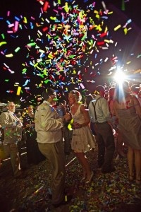 New Years Eve Wedding: give your guests a surprise balloon or confetti drop to ring in the new year #PreppyPlanner