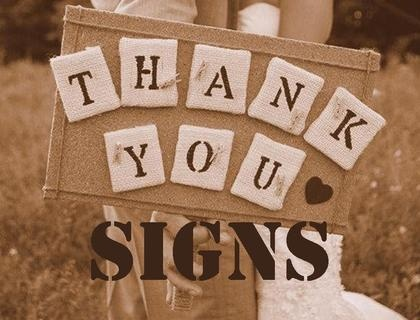 Wedding Wednesday: Thank You Signs #PreppyPlanner