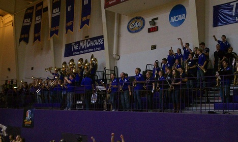 JMU Weekend: The JMU Pep Band always knows how to get a crowd hyped up for a basketball game in the Harrisonburg Convo, Start Wearing Purple!! #PreppyPlanner