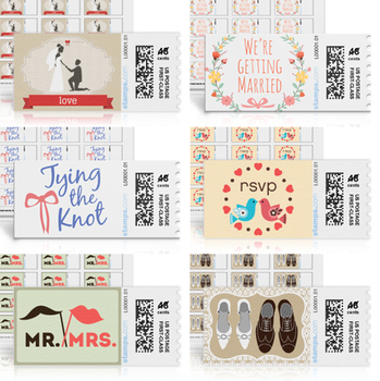 Adorable Wedding Stamps from Stamps.com - Perfect for your save-the-dates and invitations #PreppyPlanner