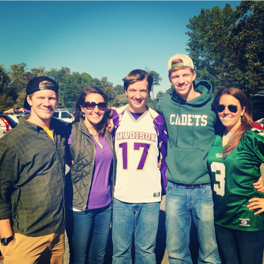 Fall Photo Diary: Family photo at the JMU vs W&M tailgate #PreppyPlanner