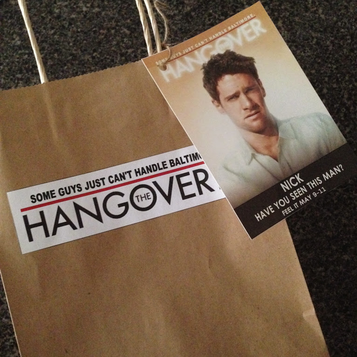 Bachelor Party Favors: the groom's hangover kit bag ready to go! #PreppyPlanner