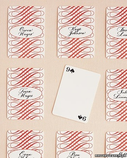 playing card place cards #PreppyPlanner