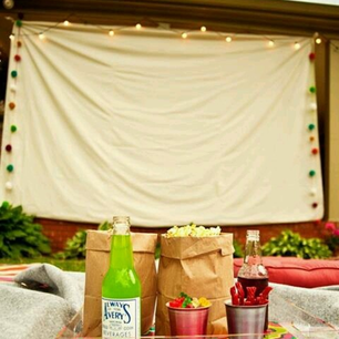 Summer Party Ideas: host an outdoor movie night in your backyard #PreppyPlanner