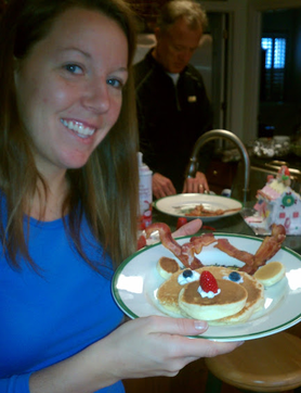2012 Christmas Recap: Enjoyed some delicious reindeer pancakes on Christmas morning #PreppyPlanner
