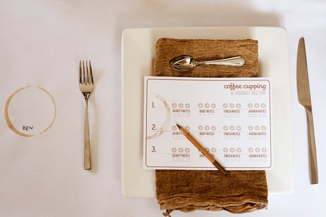 give each guest a coffee rating sheet at their seat to rate all their coffees from the party from #designsponge #PreppyPlanner
