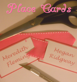 DIY instructions on how to make ribbon place cards #PreppyPlanner