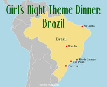 girl's night theme dinner: Brazil #PreppyPlanner