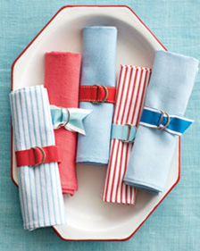 Summer Party Crafts: Napkin Rings #PreppyPlanner
