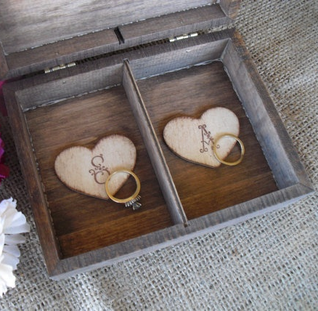 get a personalized box made for the wedding rings that your ring bearer will bring down the aisle #PreppyPlanner