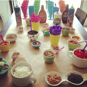 Birthday Sundae Bar: All the ingredients for a perfect sundae bar #PreppyPlanner