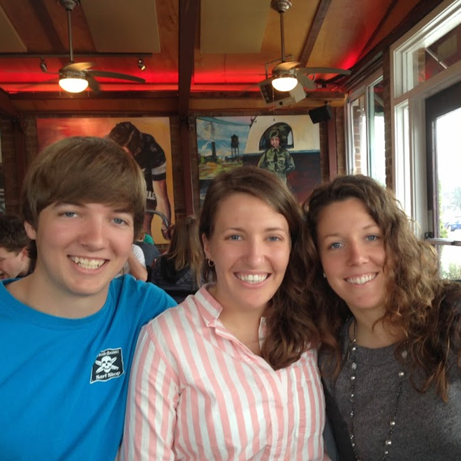 Spring Photo Diary: Enjoying a post race brunch with the siblings #PreppyPlanner