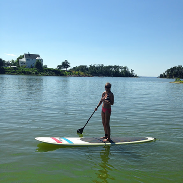 Took a spin around the creek on the paddleboard #PreppyPlanner