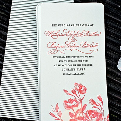 Seersucker Wedding: Printed Seersucker Invitation #PreppyPlanner