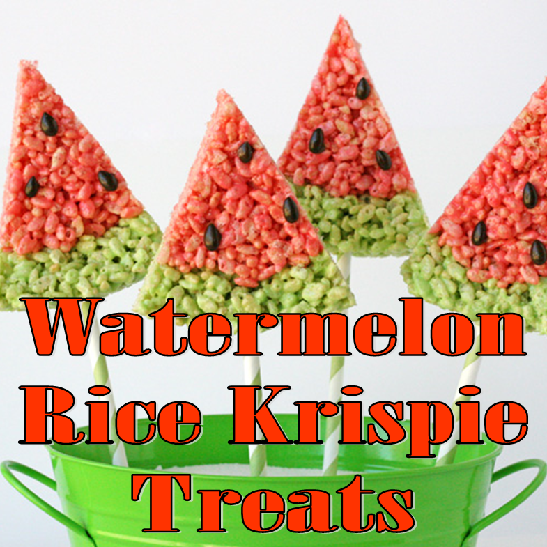 Watermelon Rice Krispie Treats #PreppyPlanner