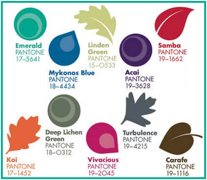 Top Ten Pantone Colors for Fall Events #PreppyPlanner