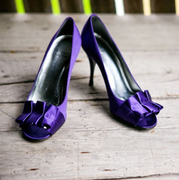 A Purple Wedding: as the bride get an amazing new pair of purple shoes like these from Kate Spade #PreppyPlanner