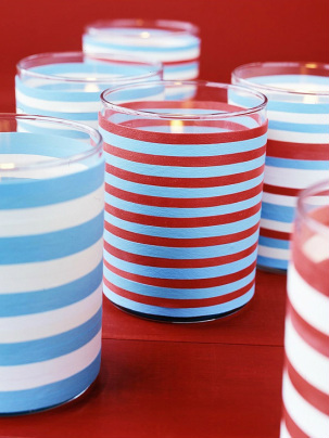 Red, White and Blue Candles