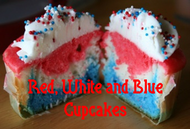Red, White and Blue memorial Day Cupcakes #PreppyPlanner