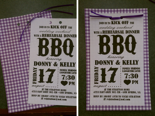 rehearsal BBQ dinner invitations designed by @PreppyPlanner