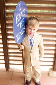create a wooden sign that your ring bearer can carry down the aisle #PreppyPlanner
