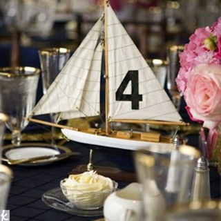 when it comes to a nautical event you can't go wrong with miniature sailboats as your table numbers #PreppyPlanner