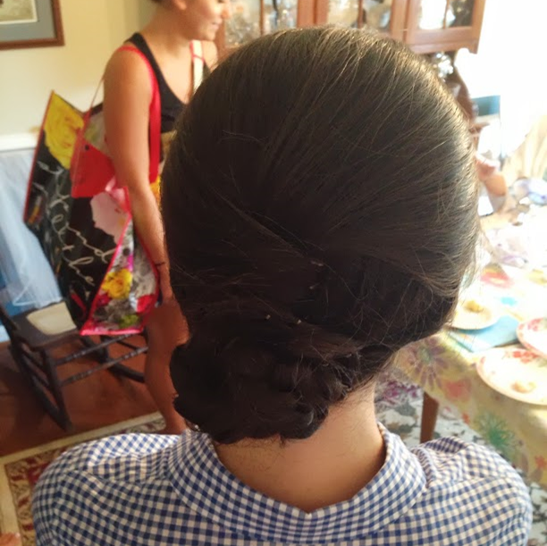 A Wedding Weekend: bridesmaid hairstyle for the wedding #PreppyPlanner