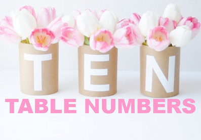 ten unique ideas when you create table numbers for your next party #PreppyPlanner