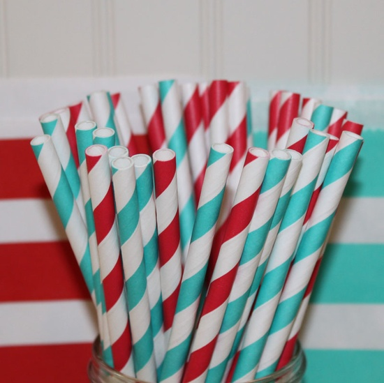 Dr. Suess Celebration Party Straws #PreppyPlanner