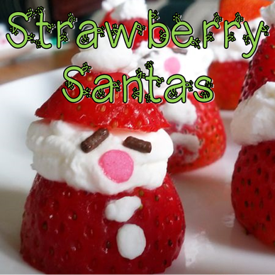 Christmas in July Strawberry Santas #PreppyPlanner