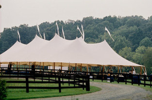 Event Tent by Race Track for Derby Inspired Wedding #PreppyPlanner